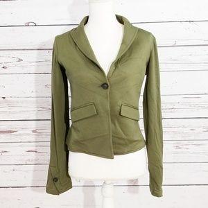 Bailey 44 green one button soft blazer